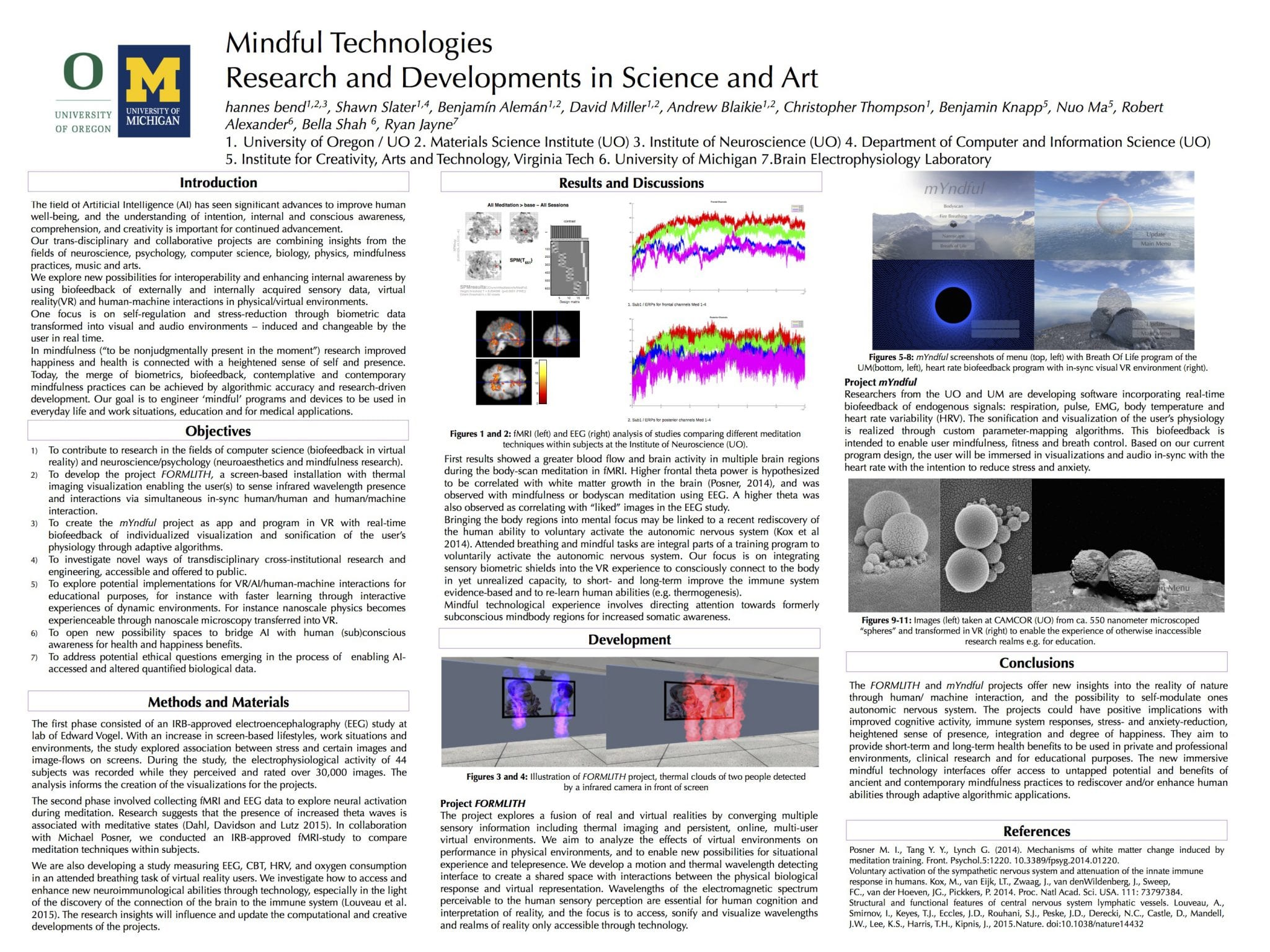 """Mindful Technologies – Research and Developments in Science and Art"" poster"